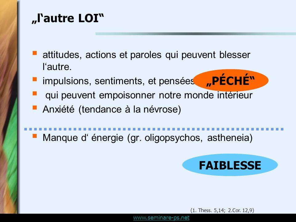 www.seminare-ps.net lautre LOI attitudes, actions et paroles qui peuvent blesser lautre.