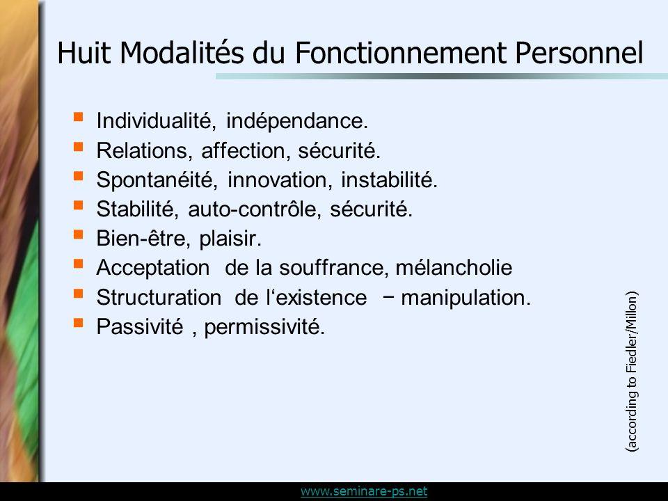 www.seminare-ps.net Individualité, indépendance.Relations, affection, sécurité.