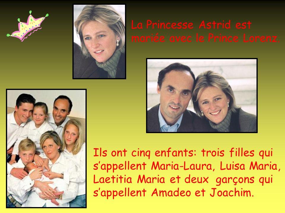 Le Prince Philippe est marié avec la Princesse Mathilde. Ils ont deux enfants: une fille qui sappelle Elisabeth et un garçon qui sappelle Gabriel.