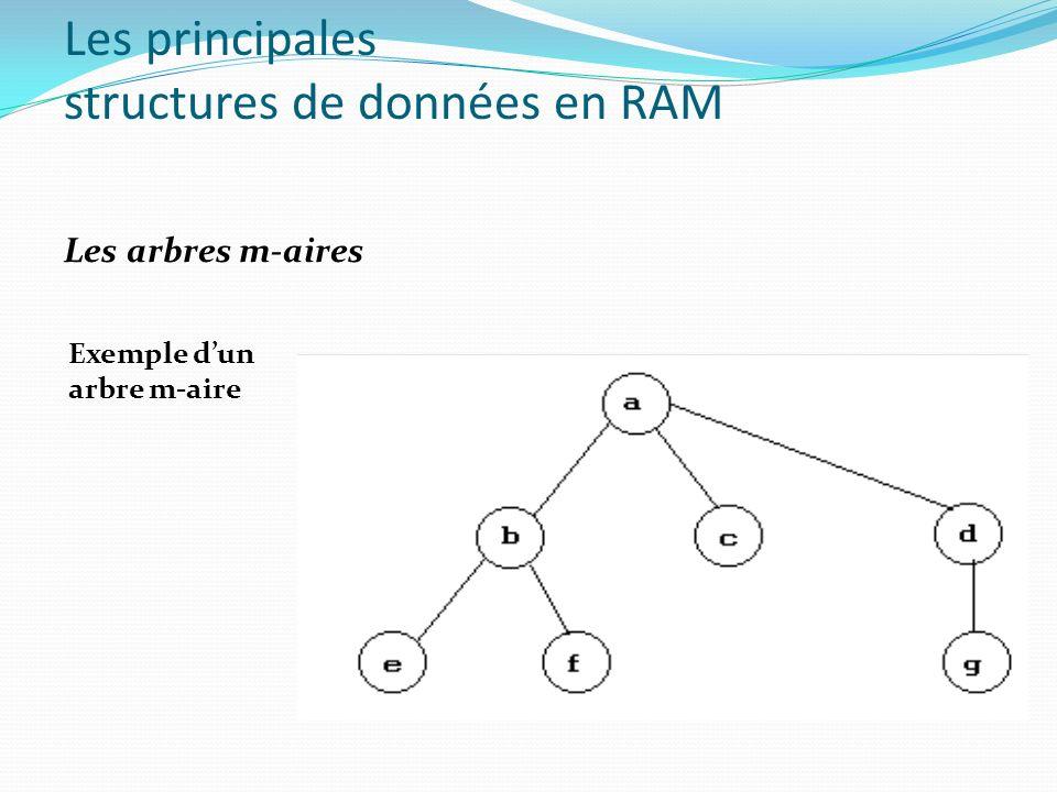 Les principales structures de données en RAM Les arbres m-aires Exemple dun arbre m-aire