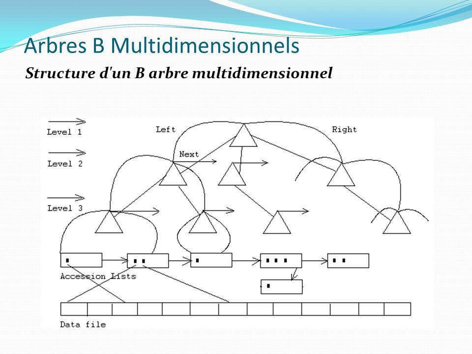 Arbres B Multidimensionnels Structure d'un B arbre multidimensionnel