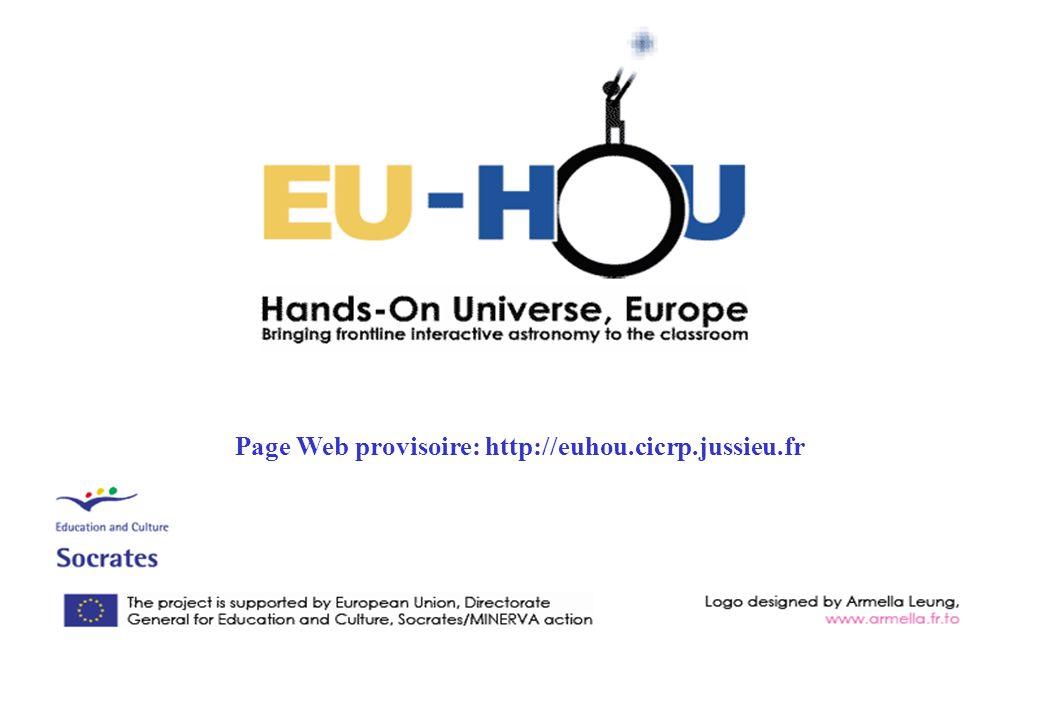 Page Web provisoire: http://euhou.cicrp.jussieu.fr