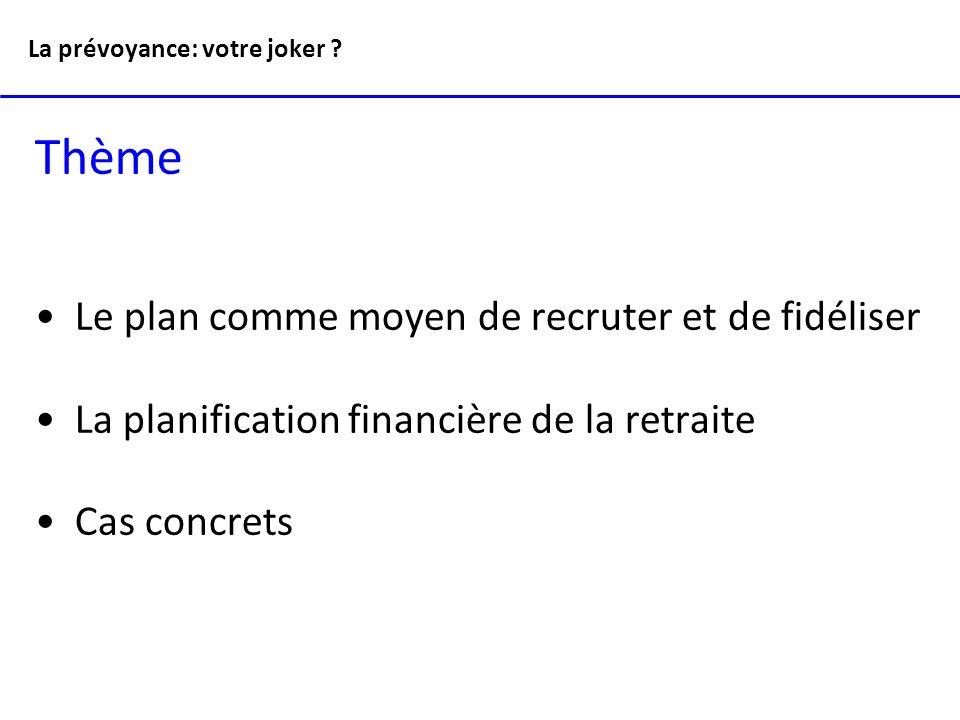 La prévoyance: votre joker .Quelques tâches du responsable RH Votre fardeau administratif .