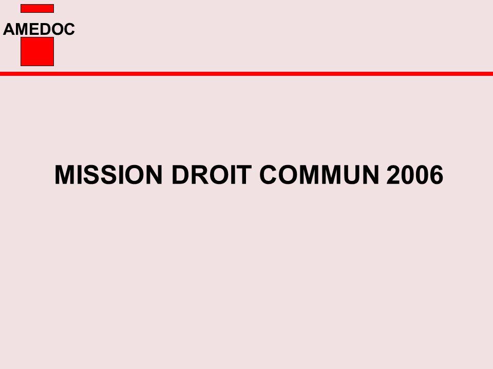 AMEDOC MISSION DROIT COMMUN 2006
