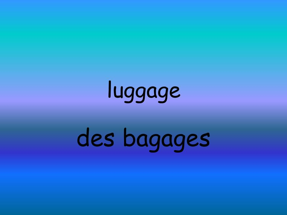luggage des bagages