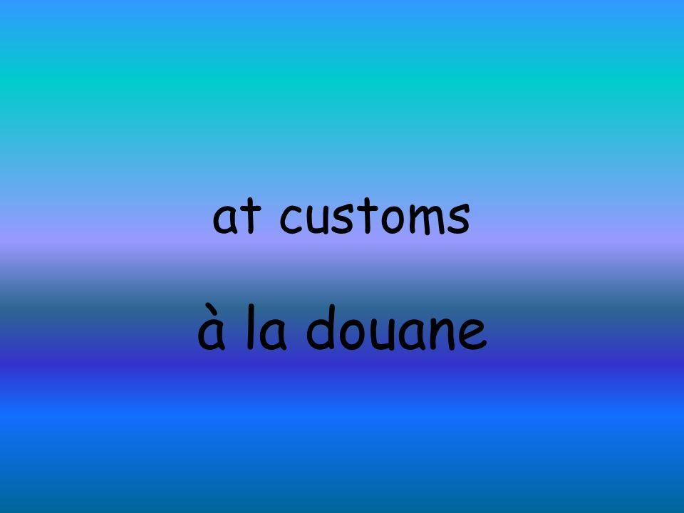 to go through customs passer à la douane