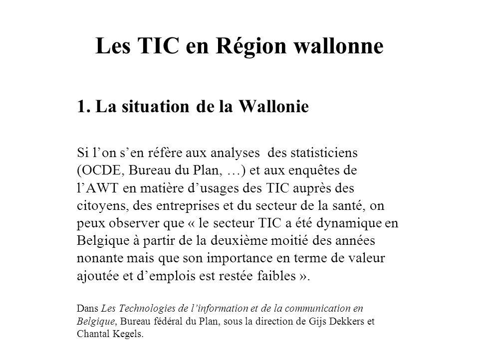 Les TIC en Région wallonne 1.