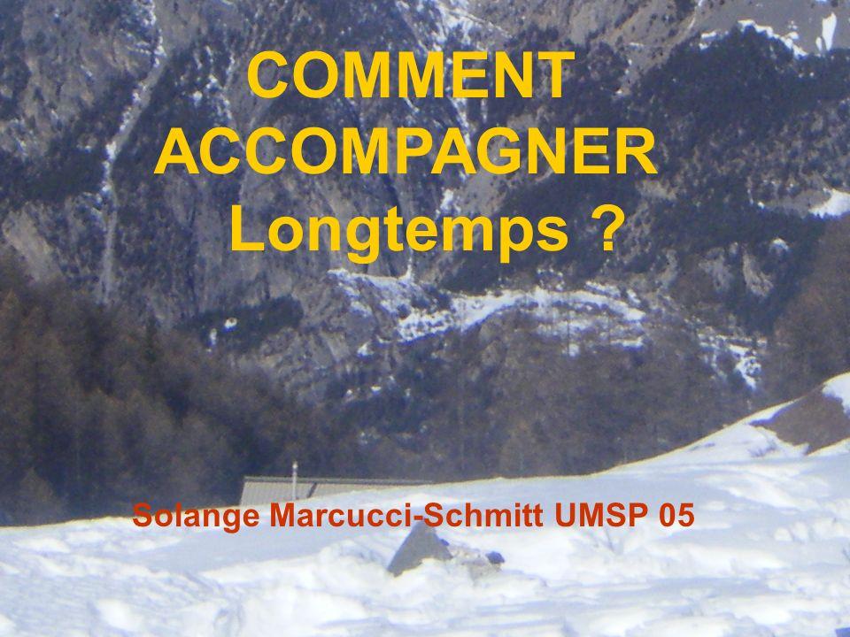 1 COMMENT ACCOMPAGNER Longtemps ? Solange Marcucci-Schmitt UMSP 05
