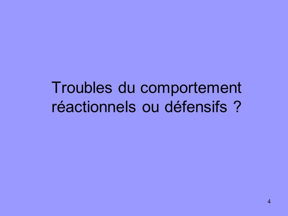 4 Troubles du comportement réactionnels ou défensifs ?