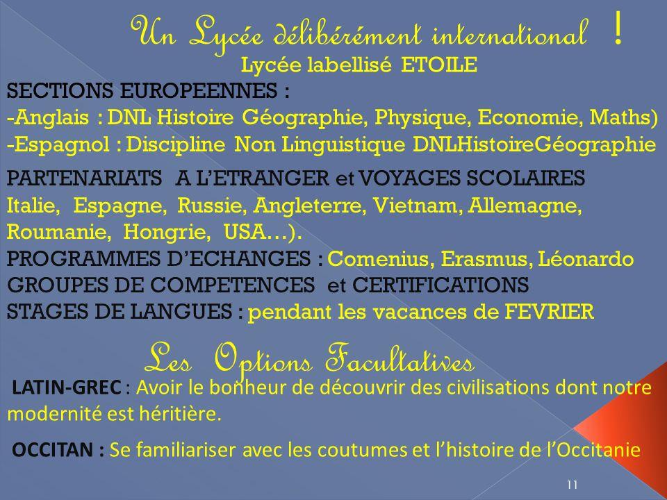 11 Les Options Facultatives LATIN-GREC : Avoir le bonheur de découvrir des civilisations dont notre modernité est héritière.