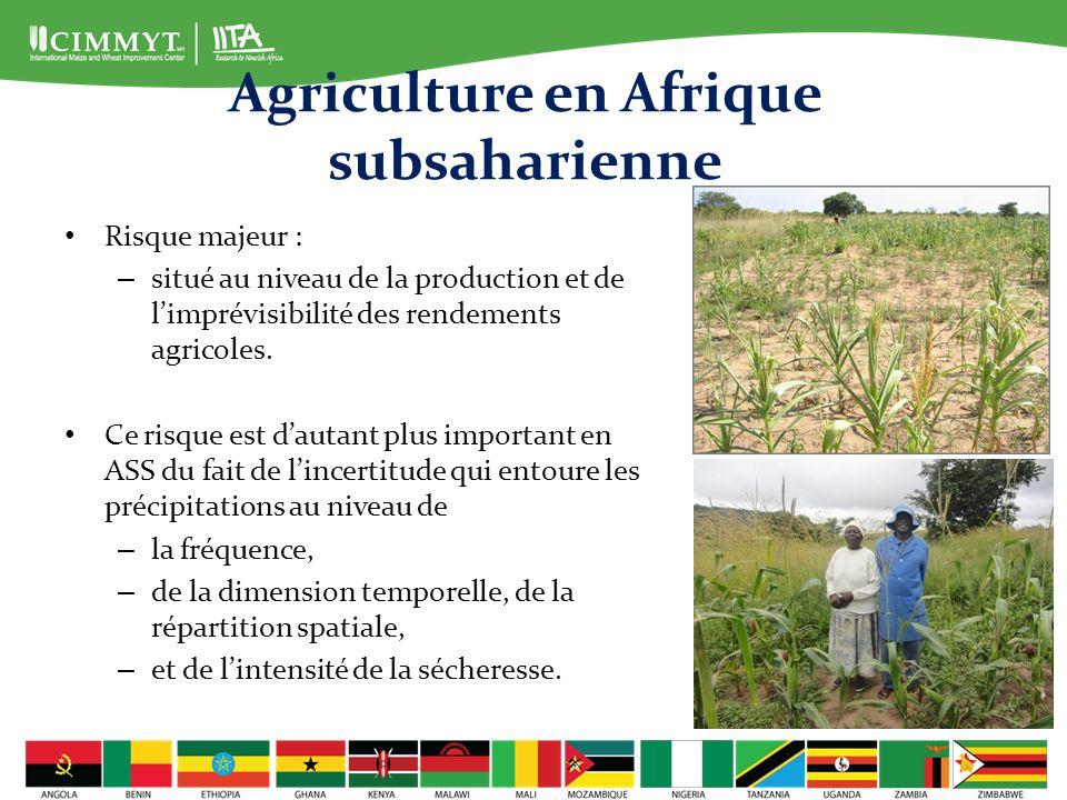 Conclusions La sécheresse et les risques négatifs qu elle suppose entraveront toujours la production de maïs, en particulier en ASS.