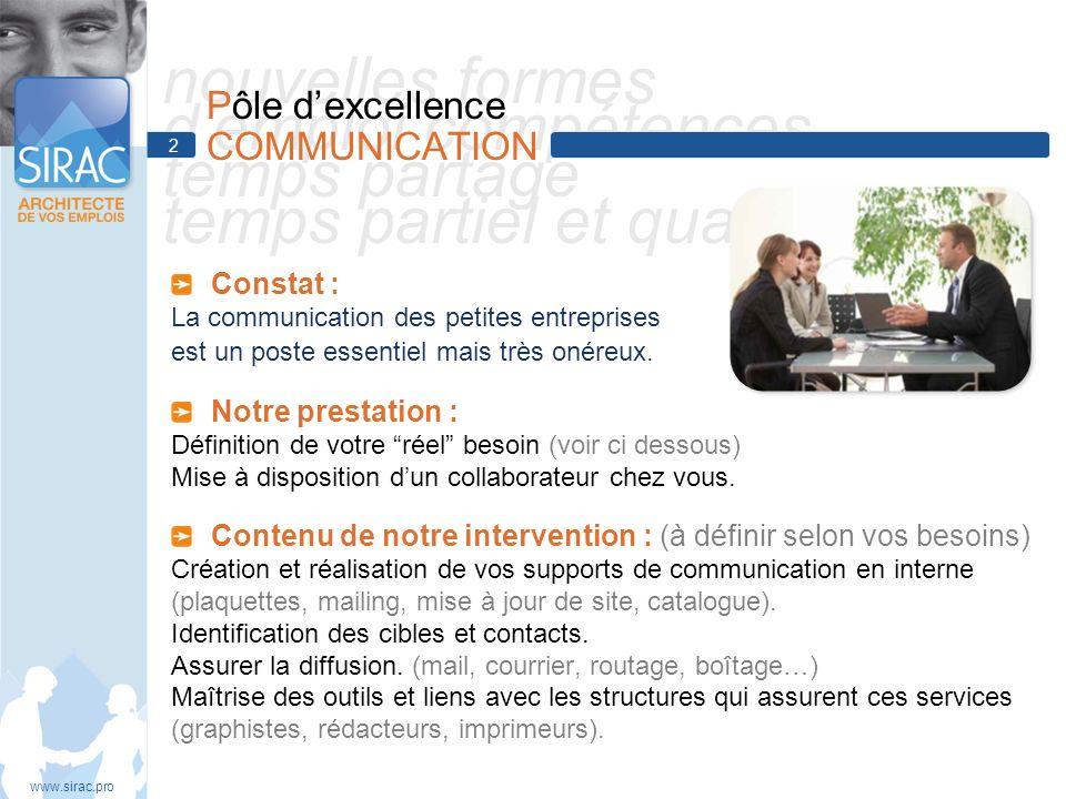 nouvelles formes demploi compétences temps partagé temps partiel et qualités Constat : La communication des petites entreprises est un poste essentiel