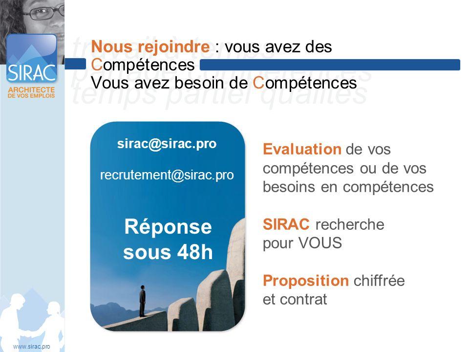 travail à temps partagé compétences temps partiel qualités Nous rejoindre : vous avez des Compétences Vous avez besoin de Compétences www.sirac.pro si