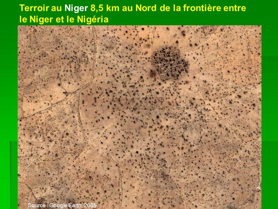 Terroir au Niger 8,5 km au Nord de la frontière entre le Niger et le Nigéria Source : Google Earth, 2005