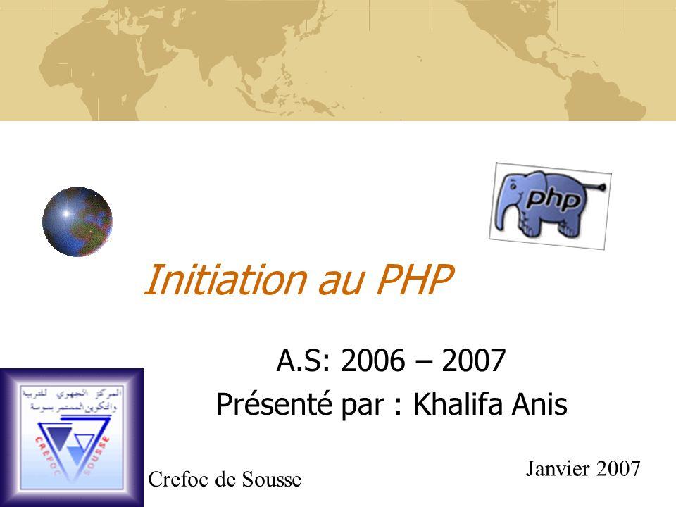 Les constantes Les constantes numériques : PHP reconnaît plusieurs types de constantes.