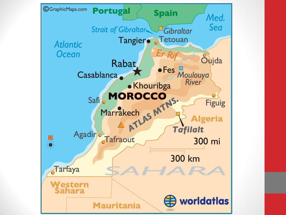 La langue La langue officielle du Maroc est l arabe Le français a statut officiel Larabe marocain, appelé derija (« dialecte »), est la langue la plus parlée.