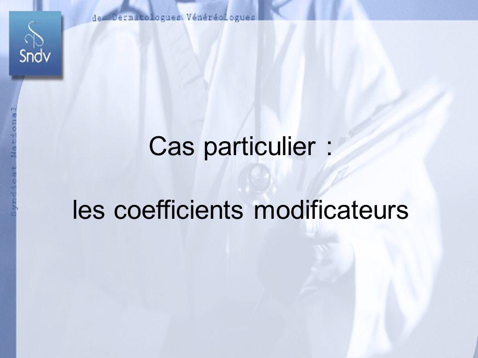 Dr GEOFFRAY-Dr ISARDON-Dr RENAUD Dr REUTER-Dr ROUDIL 54 Cas particulier : les coefficients modificateurs Dr GEOFFRAY-Dr ISARDON-Dr RENAUD Dr REUTER-Dr ROUDIL