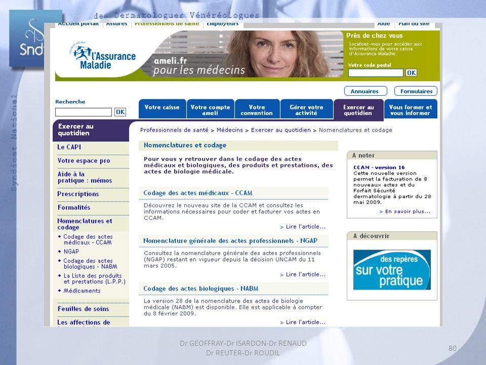 80 Dr GEOFFRAY-Dr ISARDON-Dr RENAUD Dr REUTER-Dr ROUDIL