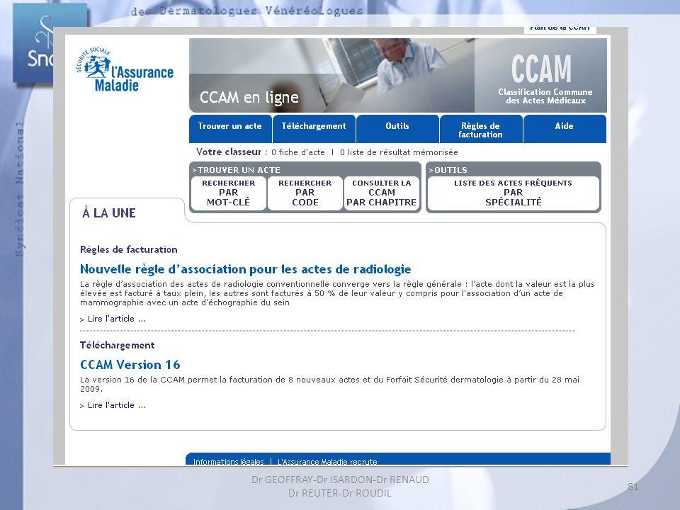 81 Dr GEOFFRAY-Dr ISARDON-Dr RENAUD Dr REUTER-Dr ROUDIL