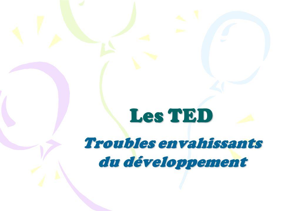 Les TED Troubles envahissants du développement