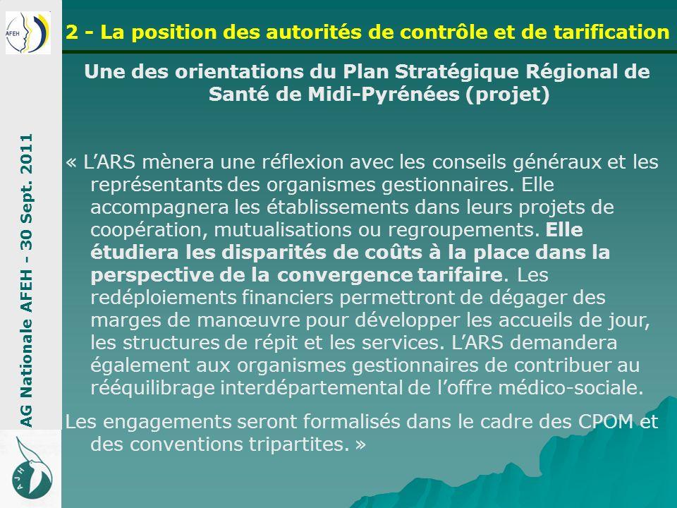 Une des orientations du Plan Stratégique Régional de Santé de Midi-Pyrénées (projet) « LARS mènera une réflexion avec les conseils généraux et les rep