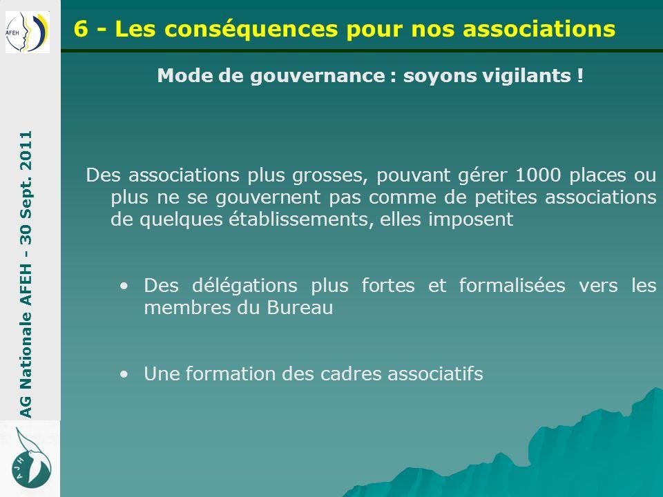 Mode de gouvernance : soyons vigilants ! Des associations plus grosses, pouvant gérer 1000 places ou plus ne se gouvernent pas comme de petites associ