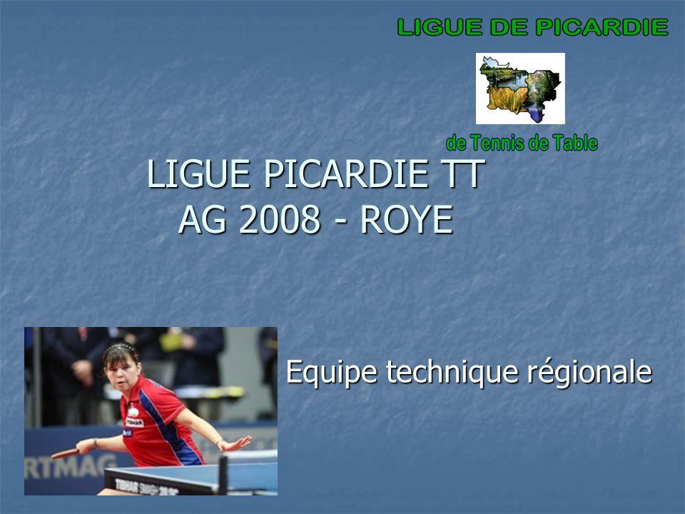 LIGUE PICARDIE TT AG 2008 - ROYE Equipe technique régionale