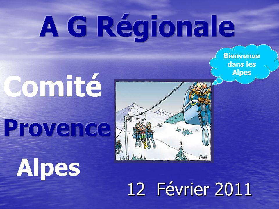 12 Février 2011 Alpes Comité Bienvenue dans les Alpes