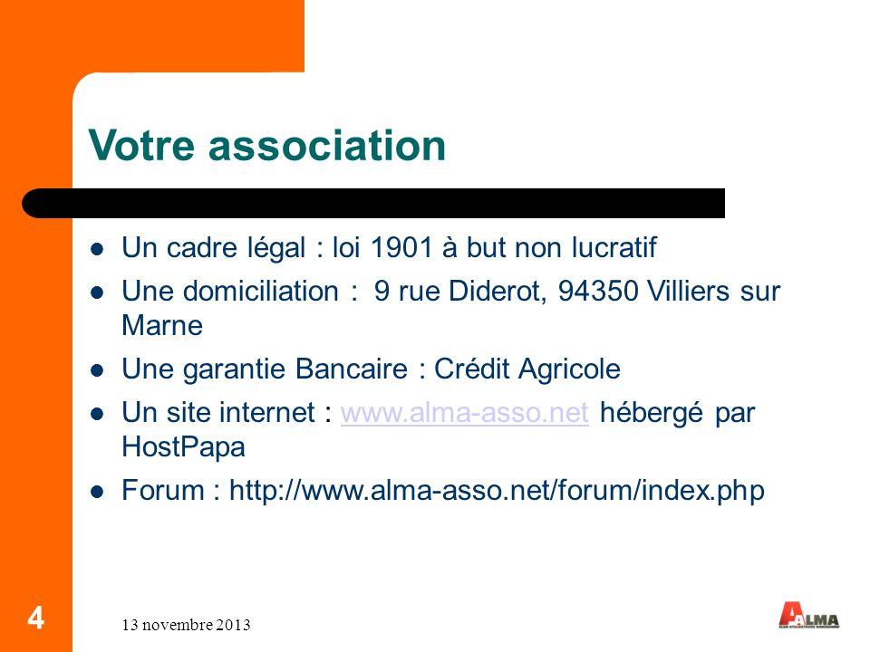 5 Votre association Les adhérents => BNP PARIBAS ITP, CACF, CEGEDIM-ACTIV, I-BP,NATIXIS,STIME,VALEO VISION => Société en cours dintégration : .