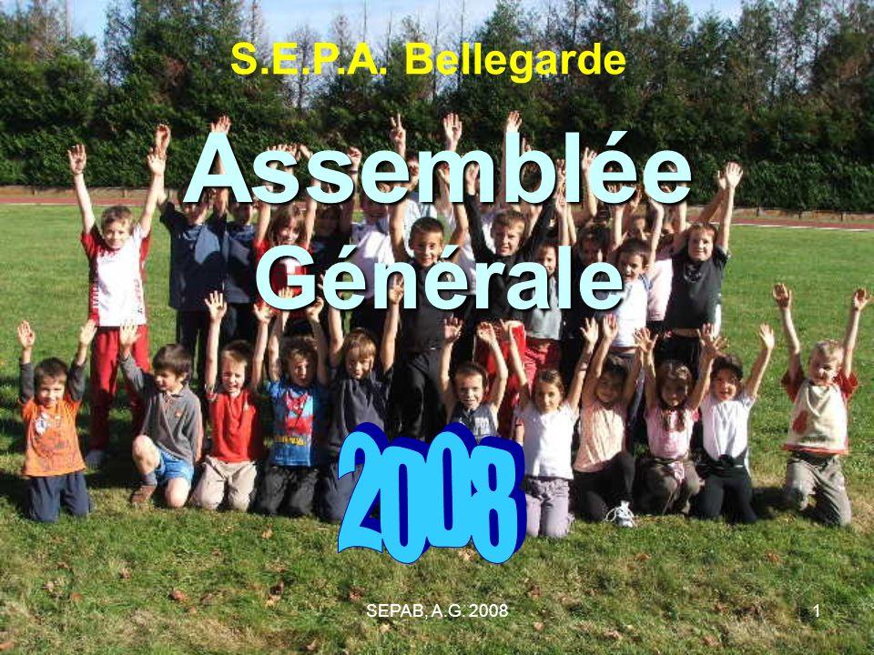 SEPAB, A.G. 20081 Assemblée Générale S.E.P.A. Bellegarde