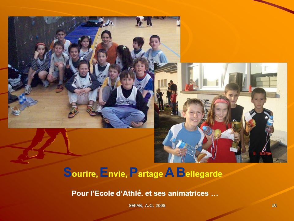 SEPAB, A.G.2008 16 Pour lEcole dAthlé.
