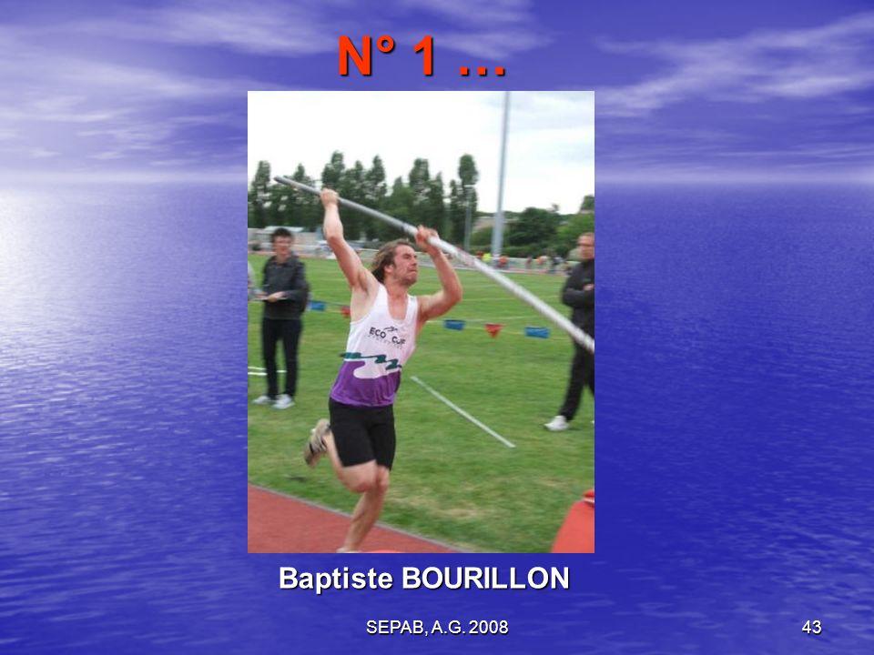 SEPAB, A.G. 200843 Baptiste BOURILLON N° 1 …