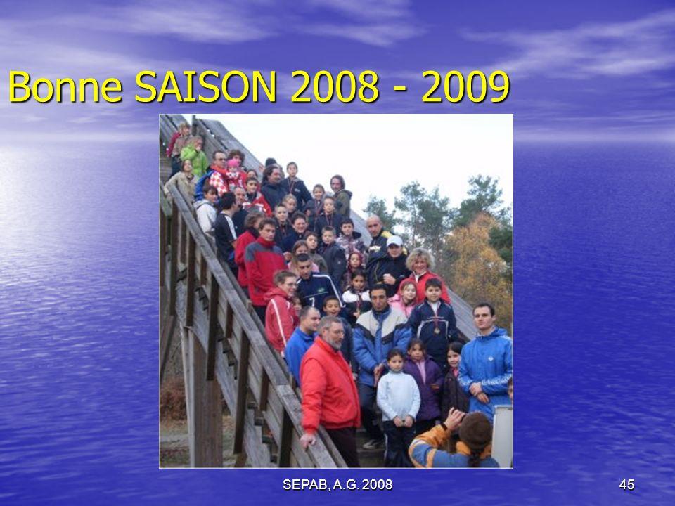 SEPAB, A.G. 200845 Bonne SAISON 2008 - 2009