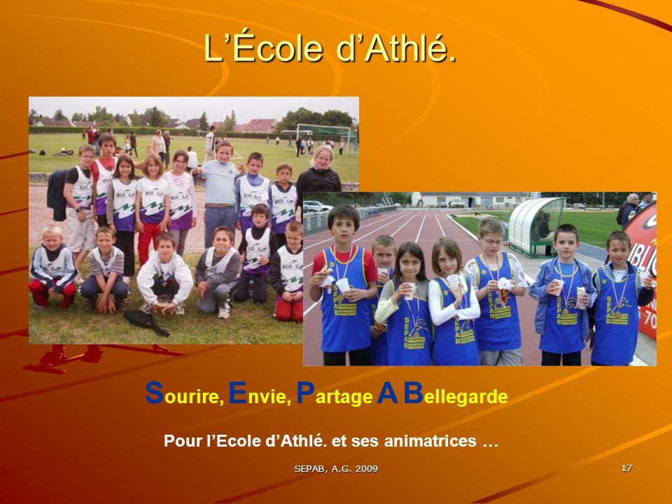 SEPAB, A.G. 2009 16 LÉcole dAthlé.