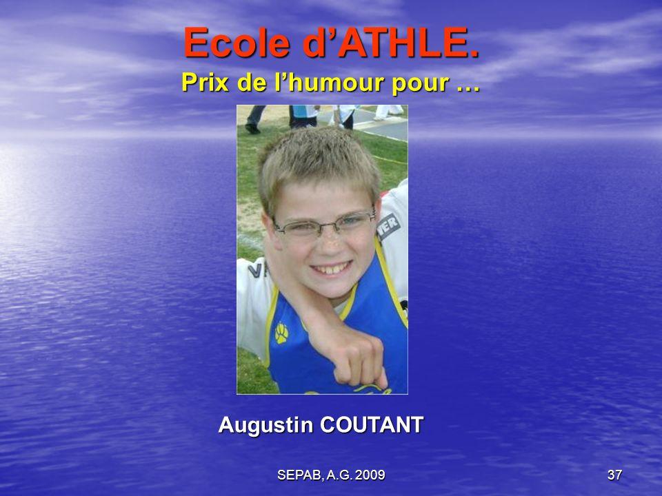 SEPAB, A.G. 200936 Léo LEYS Ecole dATHLE. Prix de la performance pour …