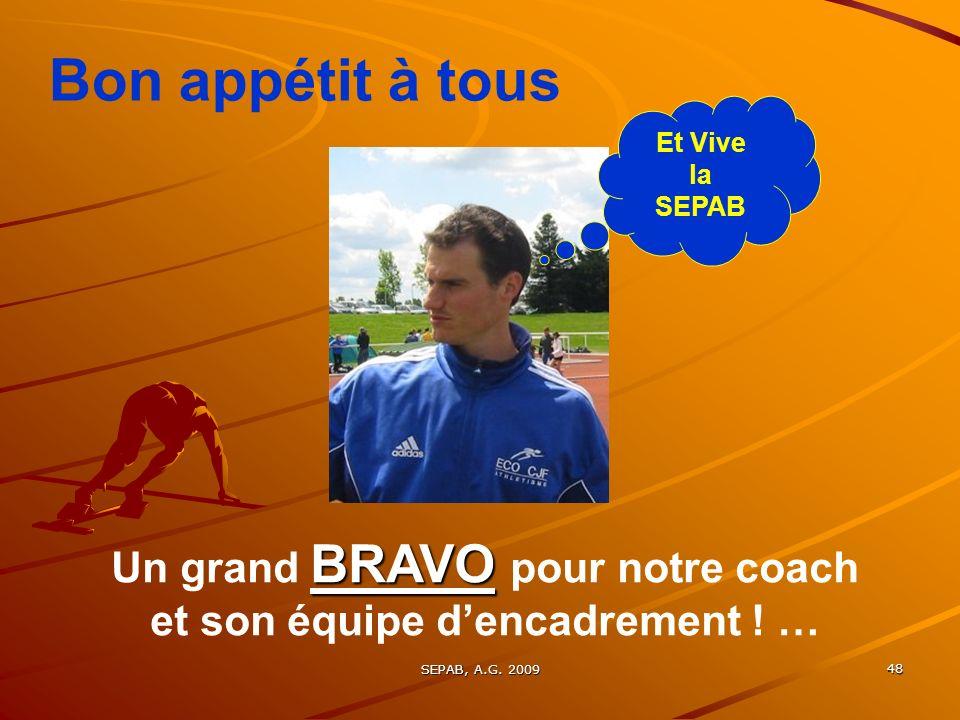 SEPAB, A.G. 200947 Bonne SAISON 2009 - 2010