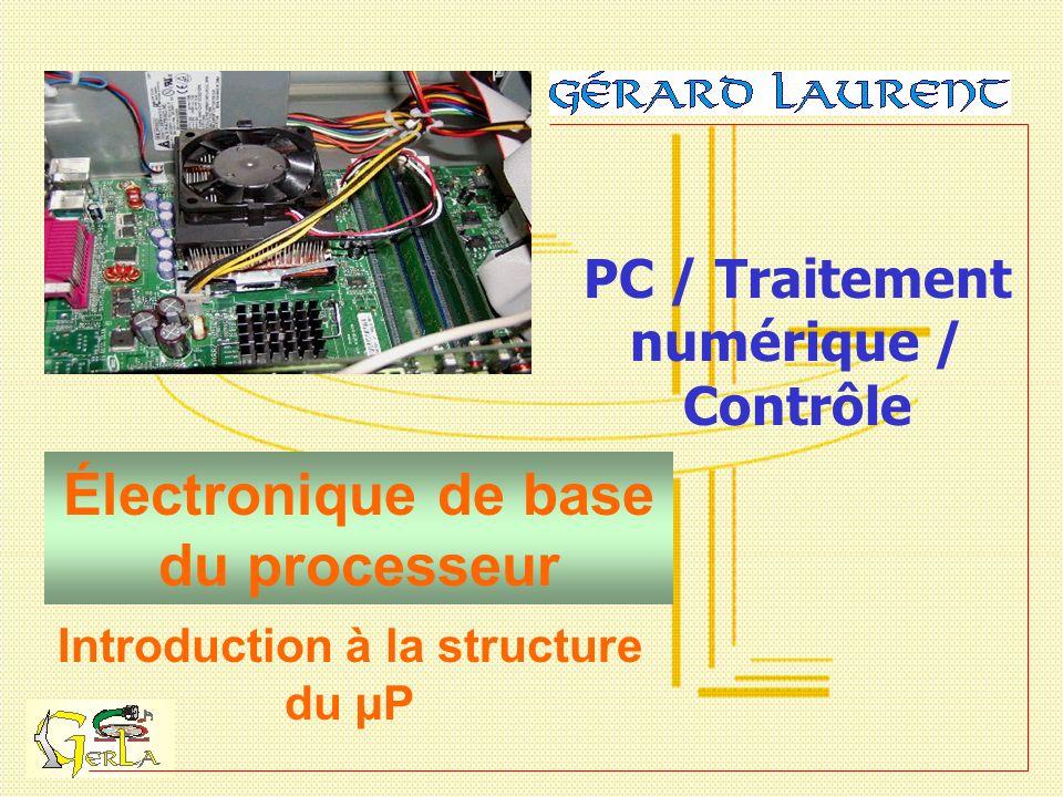 Électronique de base du processeur PC / Traitement numérique / Contrôle Introduction à la structure du µP