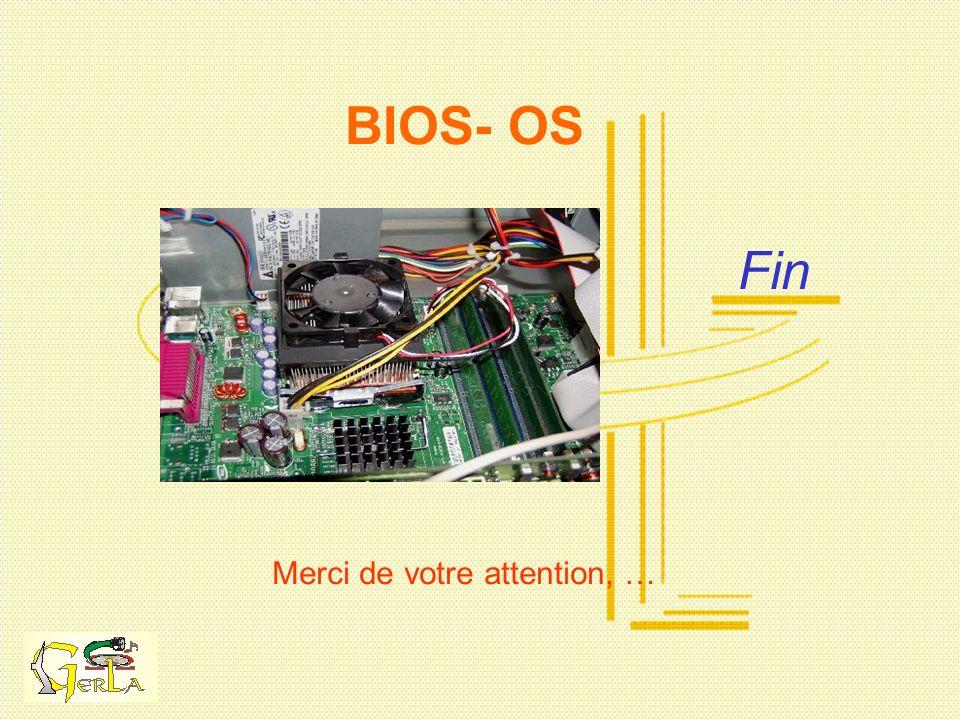 Fin Merci de votre attention, … BIOS- OS