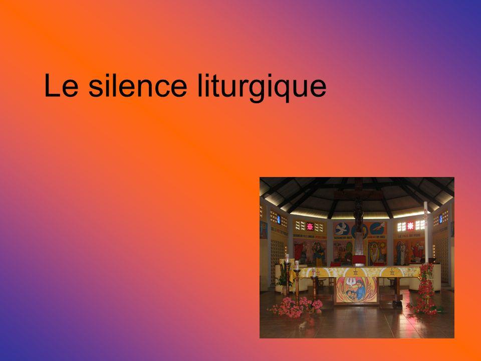 Le silence liturgique