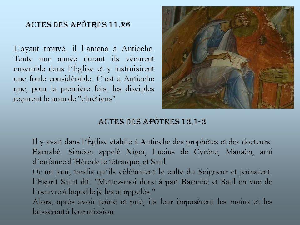 Layant trouvé, il lamena à Antioche.