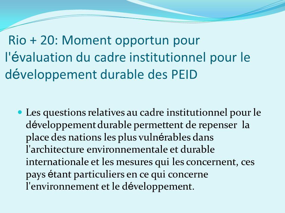Perspectives d avenir Le cadre r é pond aux lacunes soulign é es dans la R é solution 65/156 UNGA concernant la mise en oeuvre effective du PAB et de la SM/PAB.