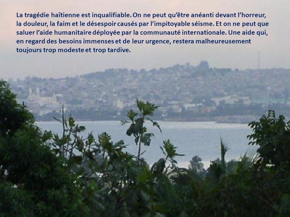 Lautre tragédie dHaïti Le Journal de Québec/ Nathalie Elgrably-Lévy, 21 janvier 2010 Port-au-Prince à larrière-plan