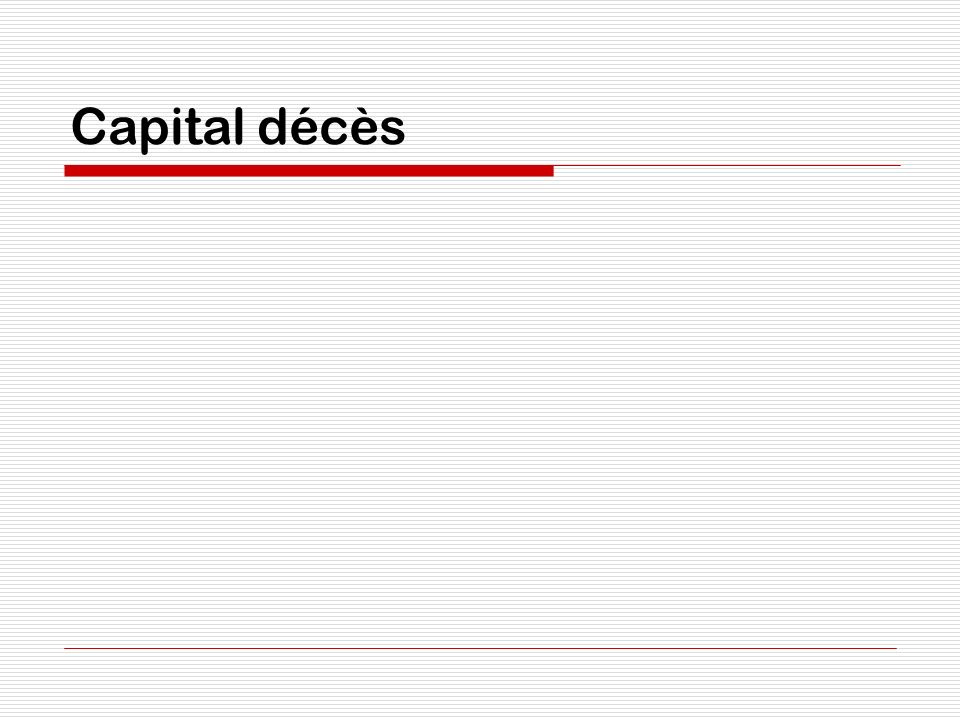 Capital décès
