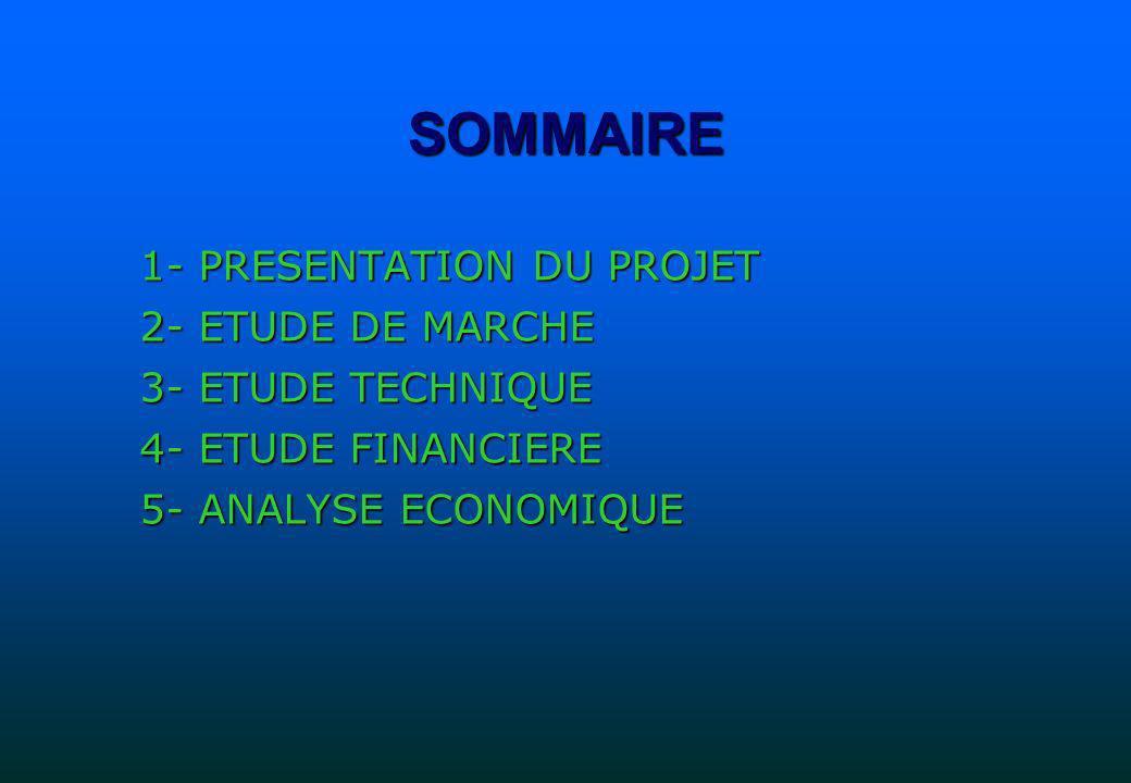 1-PRESENTATION DU PROJET 1-1- PRESENTATION DU PROMOTEUR 1-2- PRESENTATION DU PROJET