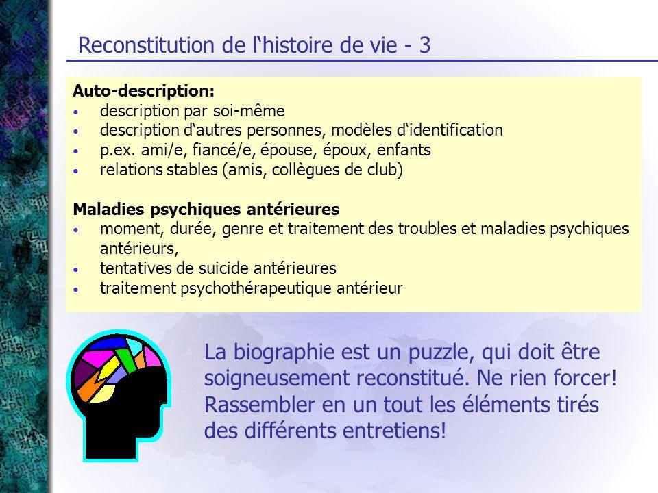 Auto-description: description par soi-même description dautres personnes, modèles didentification p.ex. ami/e, fiancé/e, épouse, époux, enfants relati