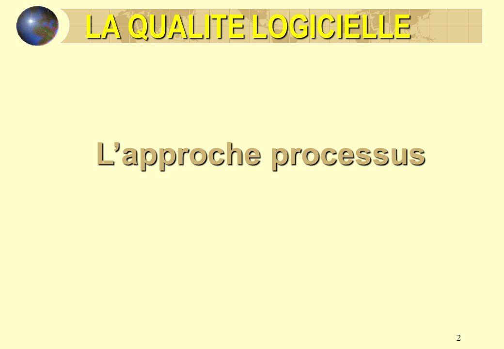2 LA QUALITE LOGICIELLE Lapproche processus