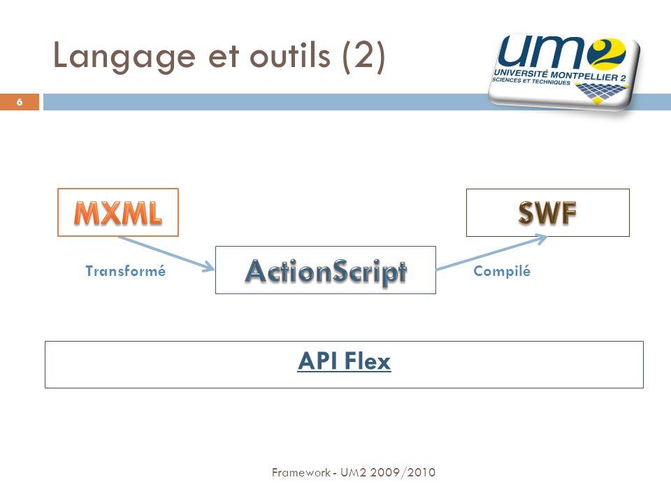 Framework - UM2 2009/2010 7 Langage et outils (3) PROJET TortoiseSVN