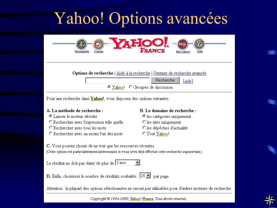 Yahoo! Options avancées