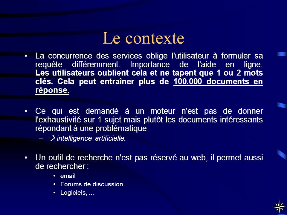 Recherche avancée (Advanced Search) Si un mot recherché correspond à un opérateur, il faut le taper entre guillemets Exemple : ruée AND or NEAR : mots proches distants de 8 mots maximum.
