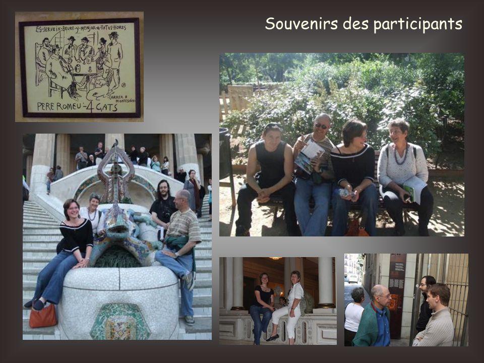 Souvenirs des participants